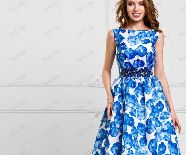 Платье Сине Белое