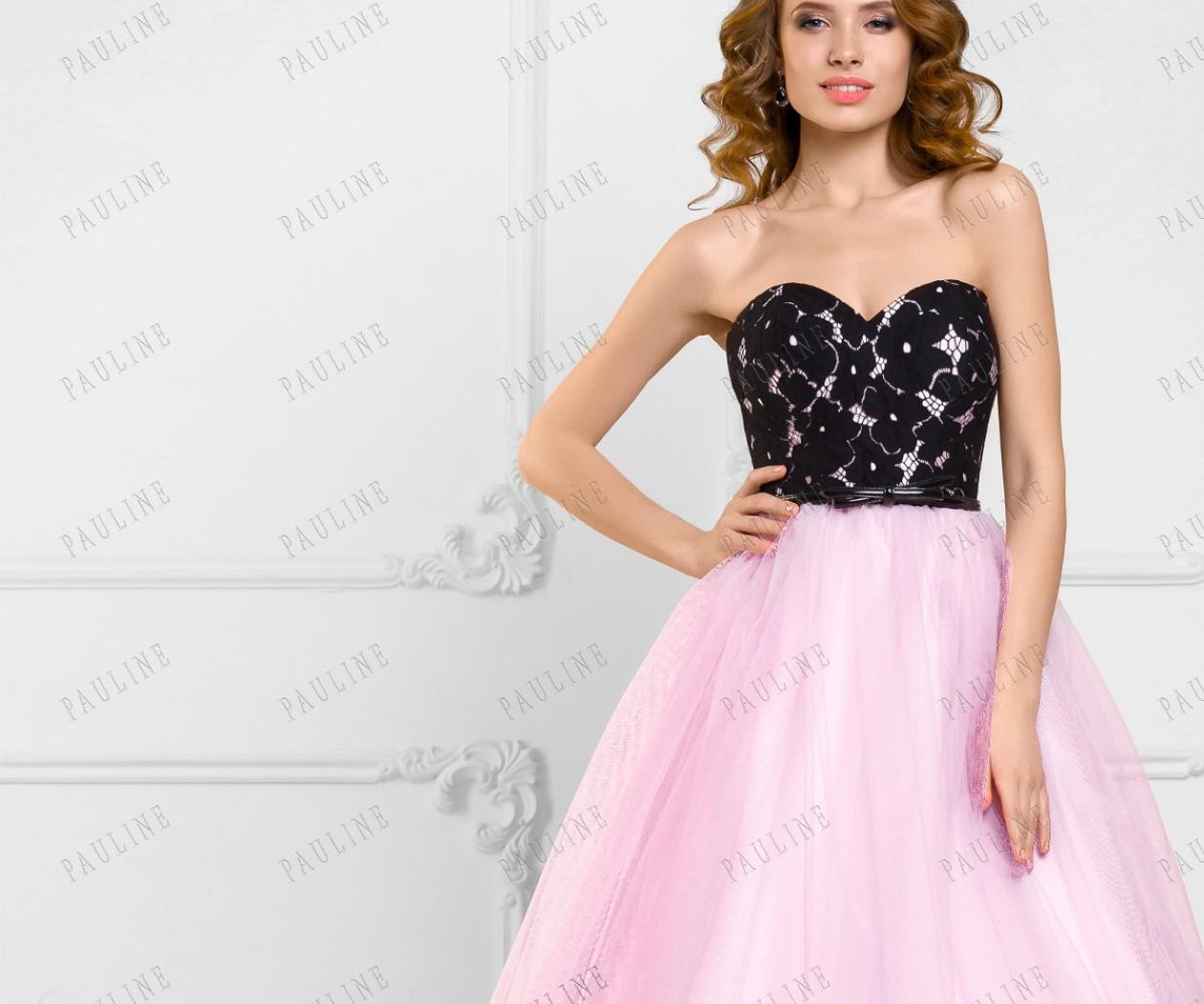 Пышное вечернее платье в пол с открытыми плечами РОМЕРО