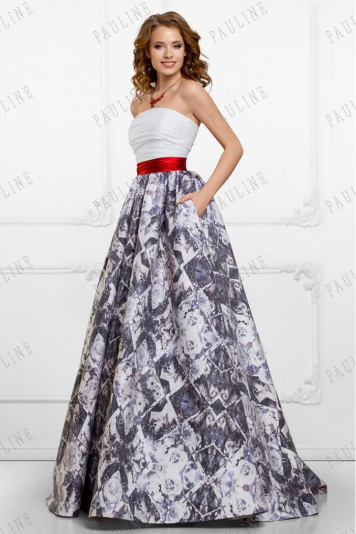 Нарядное вечернее платье с длинной юбкой СЮРЕЙ