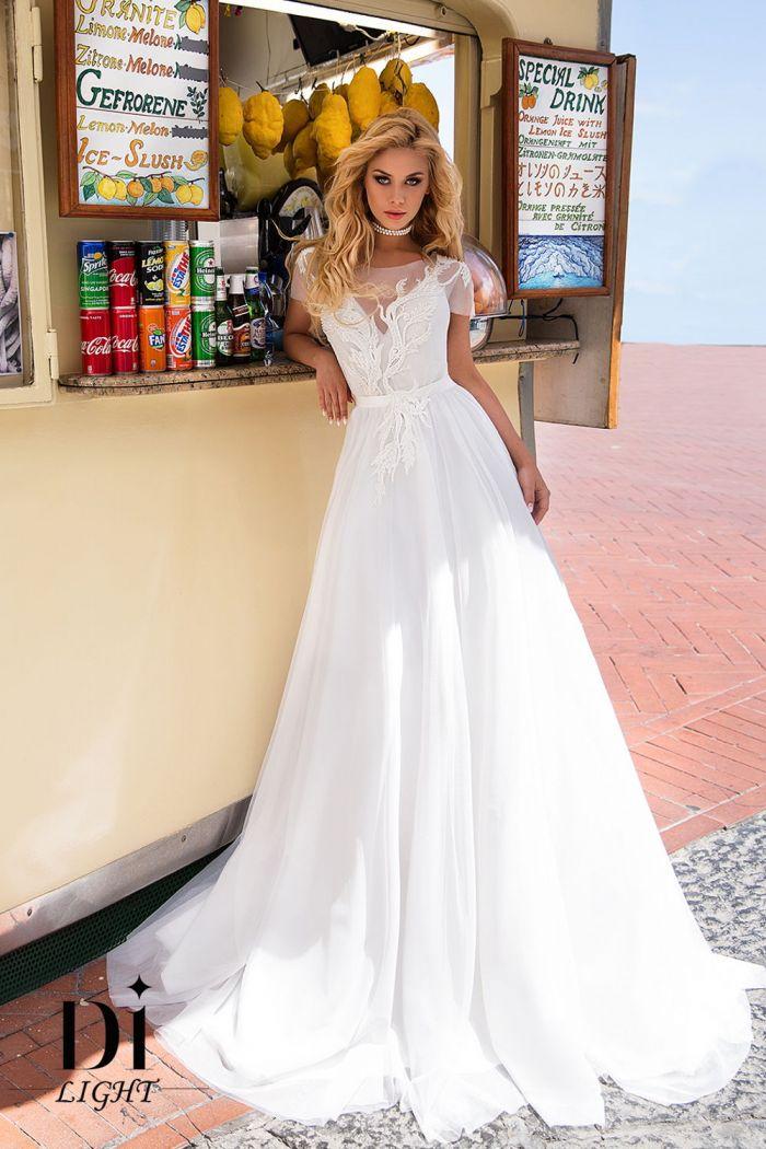Легкое и изысканное свадебное платье КАМИЛА