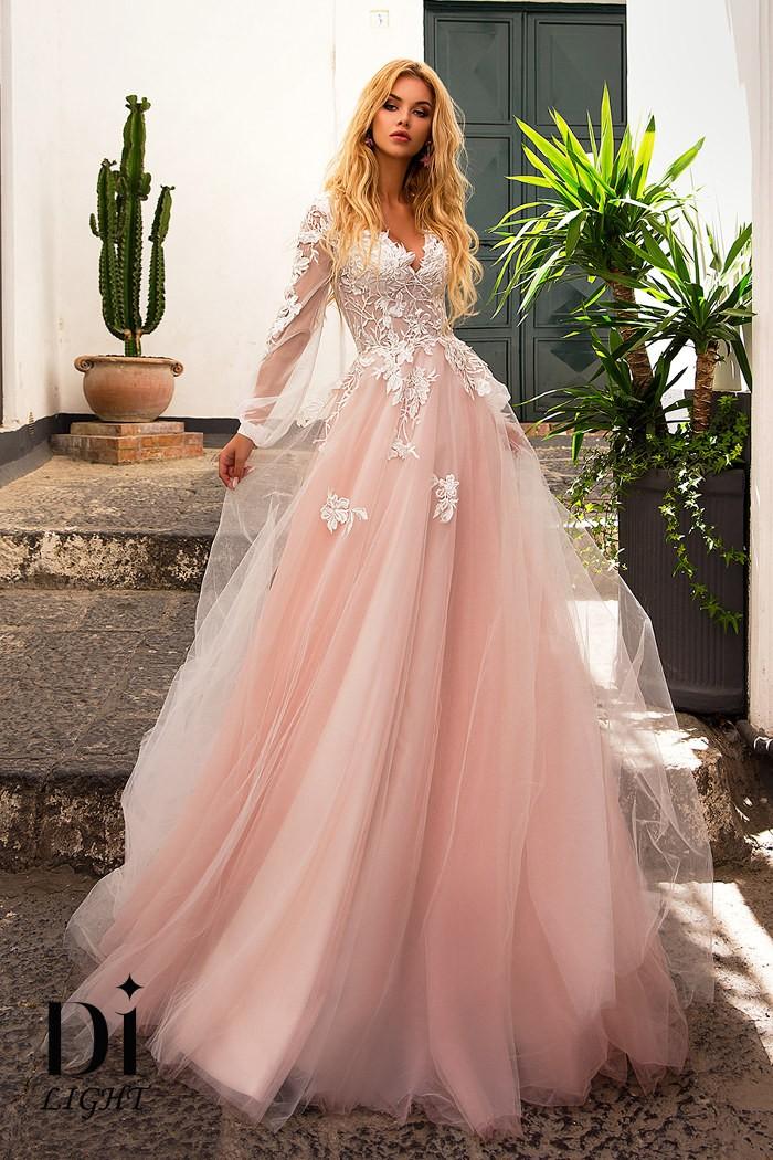 Кружевное свадебное платье с пышной юбкой ВИВИАН
