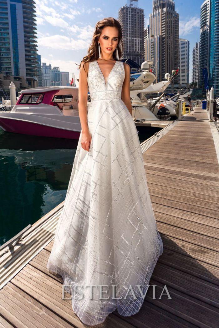Эксклюзивное свадебное платье с вышивкой АНЖЕЛИНА