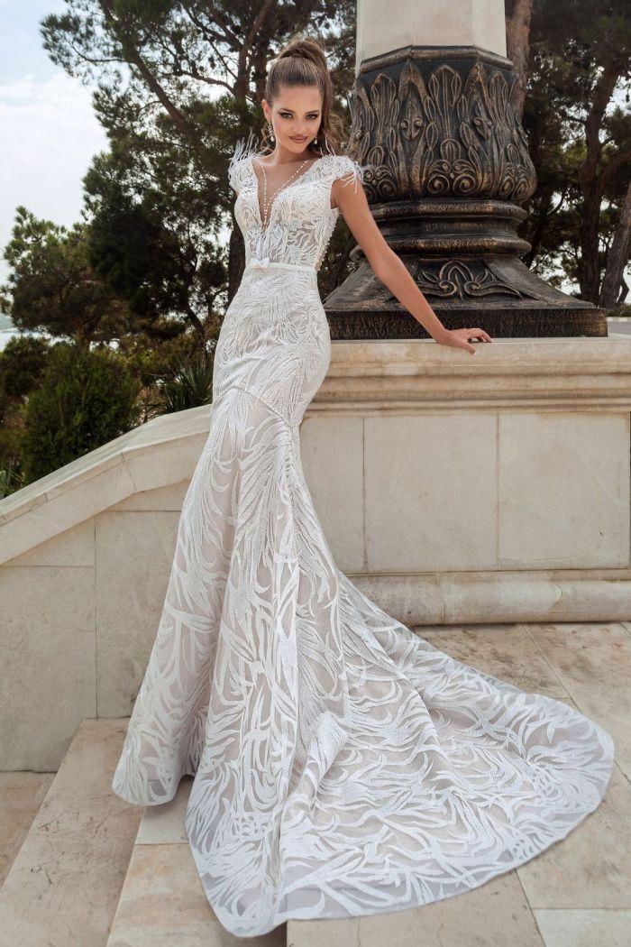 Кружевное свадебное платье силуэта русалка ЭРИН