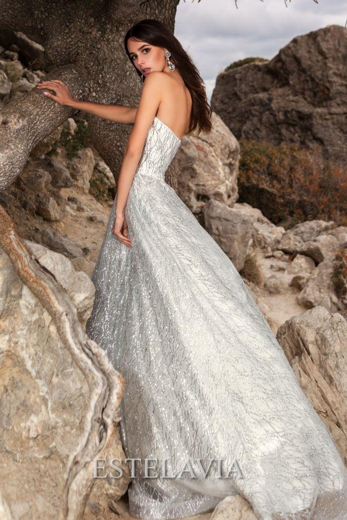Роскошное свадебное платье из сверкающей ткани ДЖЕССИКА