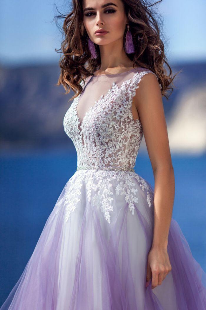 Яркое свадебное платье с эффектом деграде ЛАРА