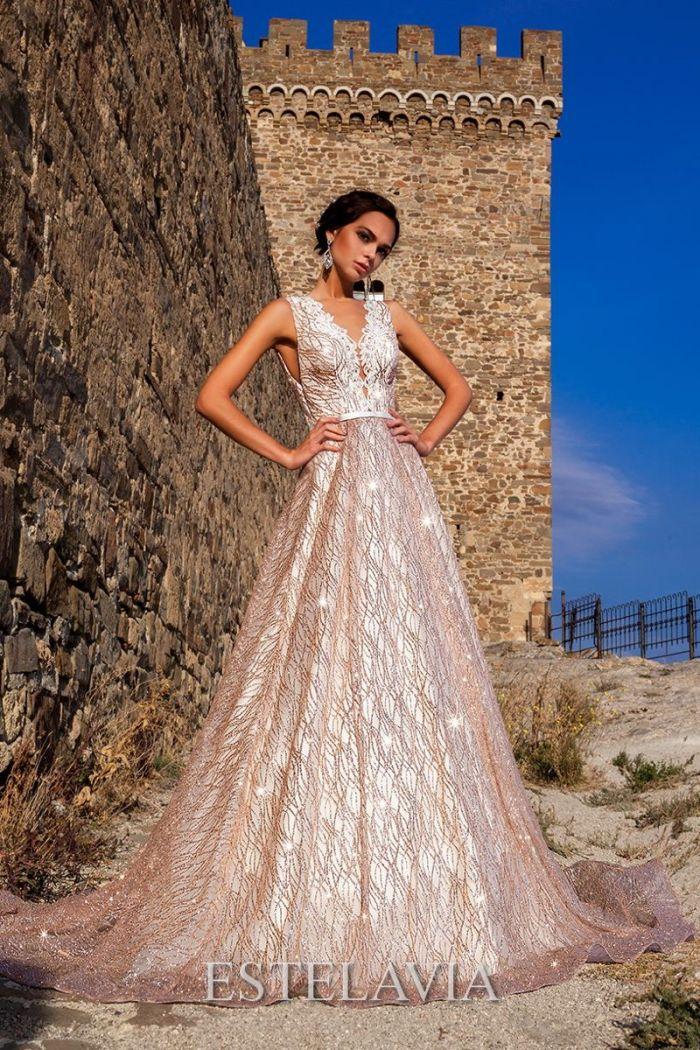 Золотое свадебное платье невесты РИАНА