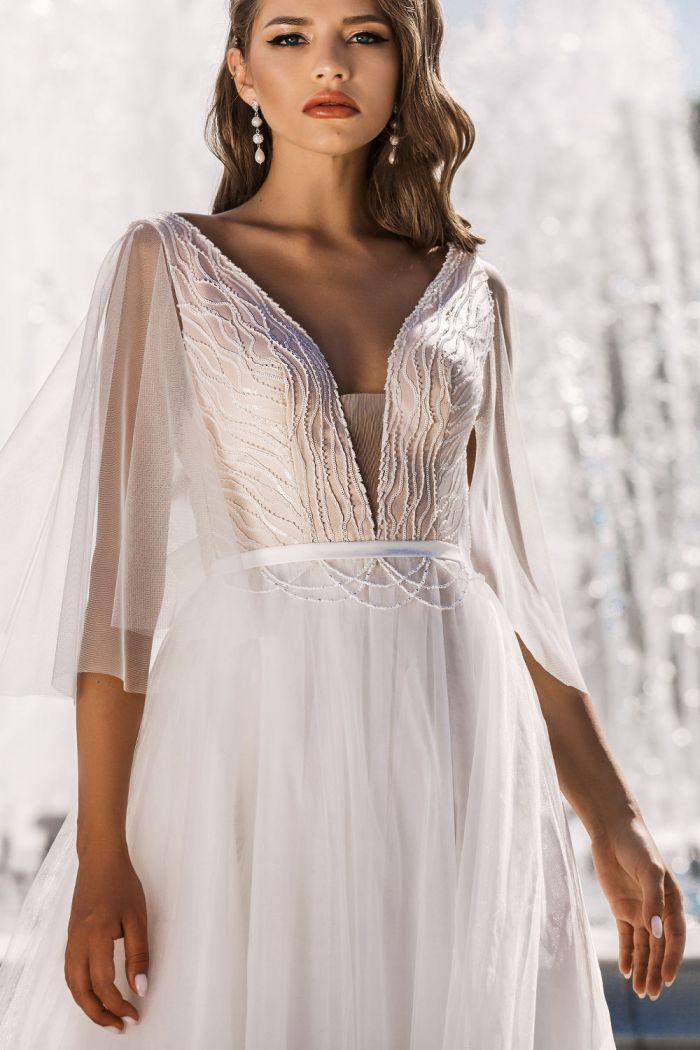 Идеальное свадебное платье для церемонии в стиле Бохо или Рустик ROMI
