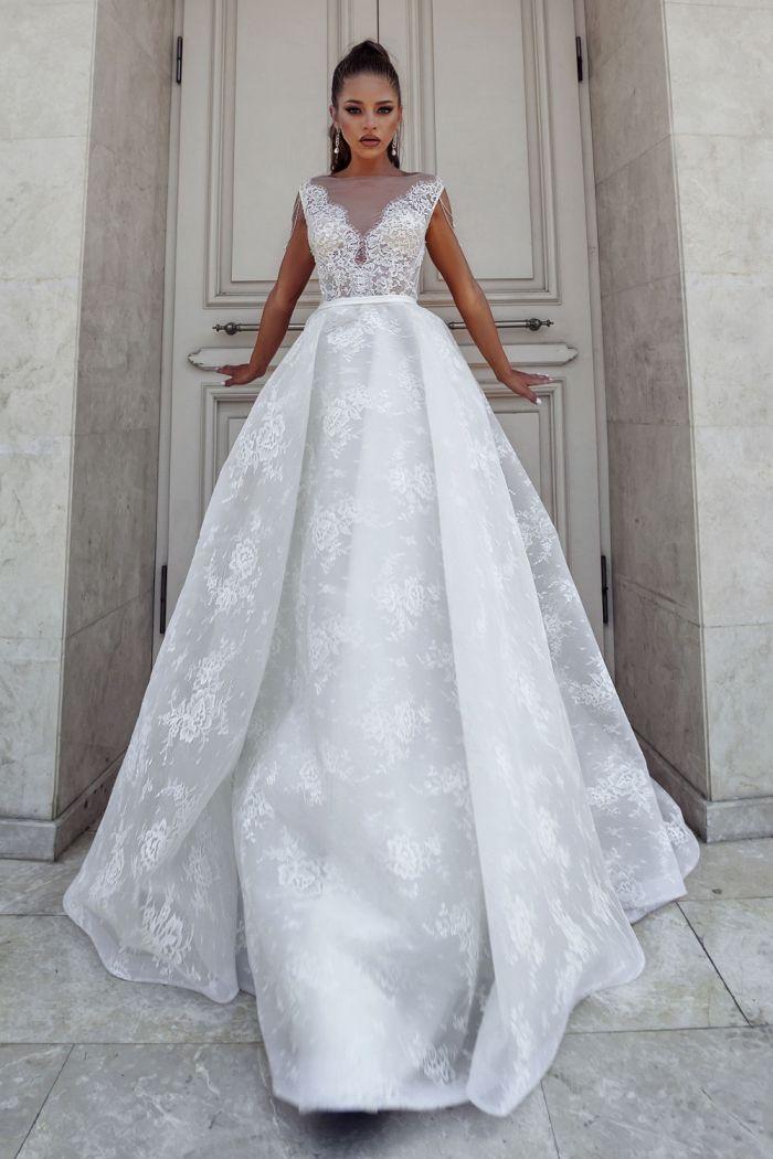 Незабываемое свадебное платье с оригинальной текстурой РОЗМАРИН