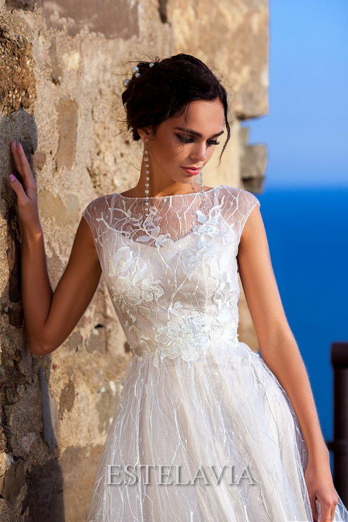 Легкое кружевное свадебное платье ШАКИРА