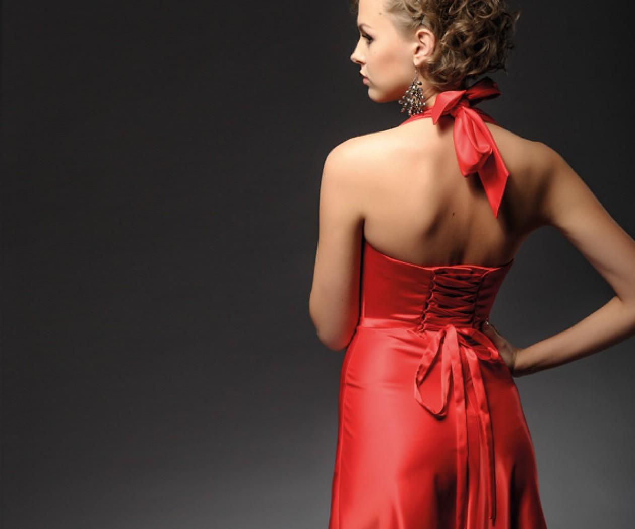 Коктейльное платье красного цвета ОСКАР