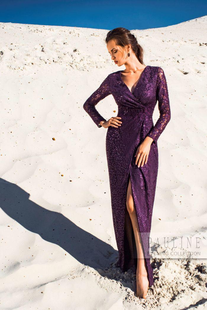Элегантное вечернее платье с головокружительно высоким разрезом БРУНИ