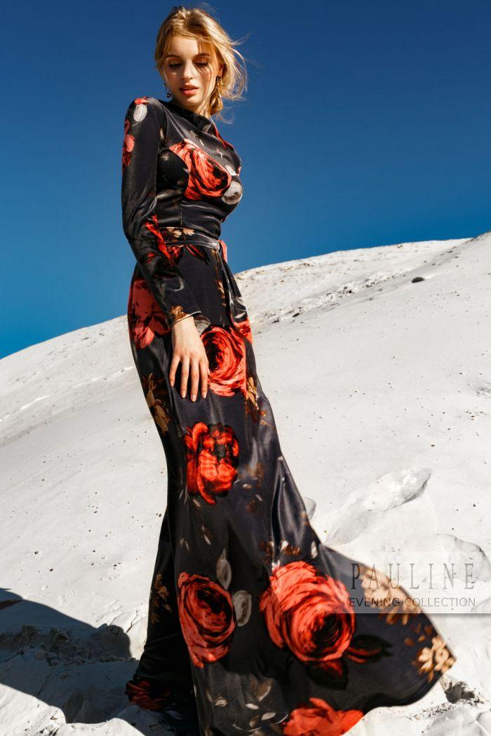 По-итальянски эмоциональное и элегантное струящееся макси-платье ЧЕРУТТИ