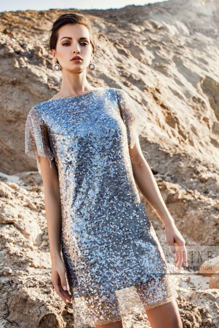 Красивое вечернее платье из мерцающего пайеточного плотна ТЕДЕСКИ