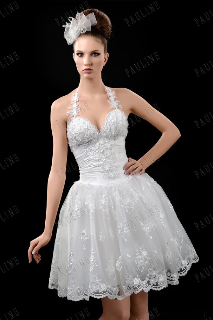 Свадебное платье с короткой пышной юбкой ЛАФЕРО