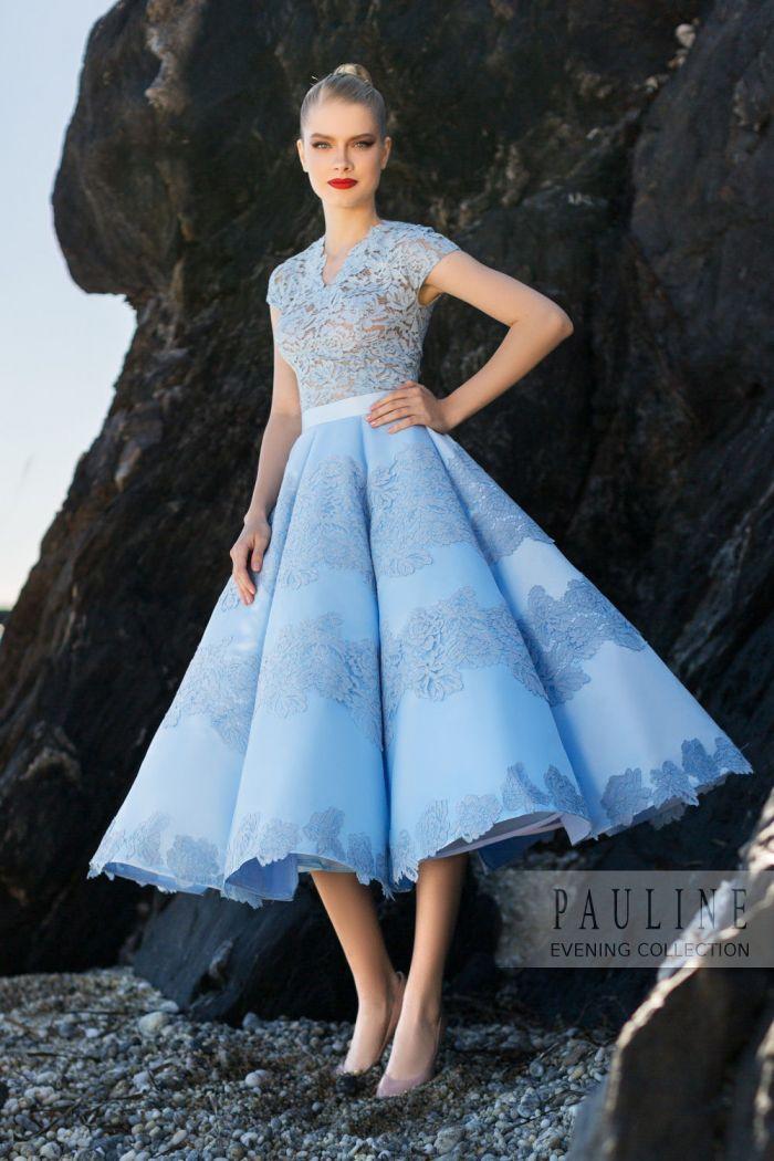 Вечернее платье с кружевным верхом и потрясающей юбкой СОКРОВИЩА АТЛАНТИДЫ