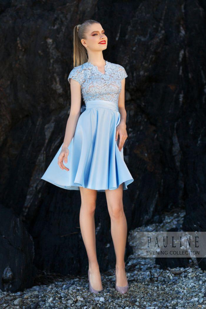 Короткое вечернее платье с кружевным верхом СОКРОВИЩА АТЛАНТИДЫ