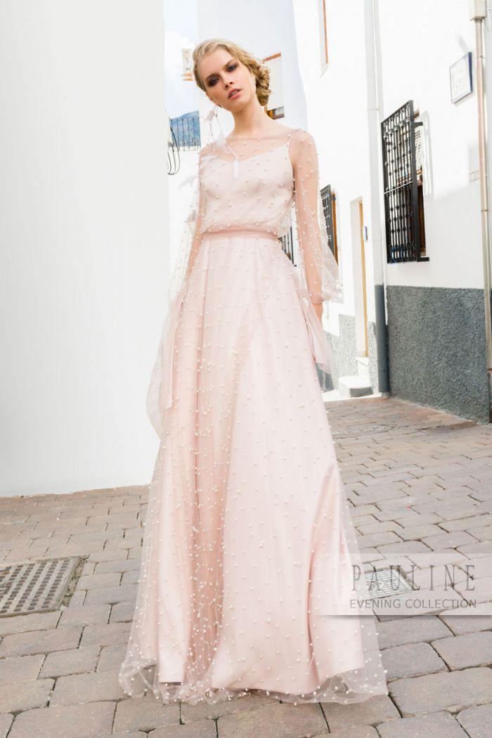 Легкое шелковое платье со вторым верхним прозрачным слоем ЛОВЕЦ СНОВ