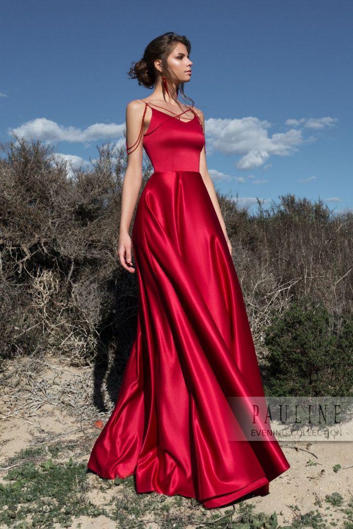 Шелковое вечернее платье изысканного оттенка граната ГРАНАТОВЫЙ БРАСЛЕТ