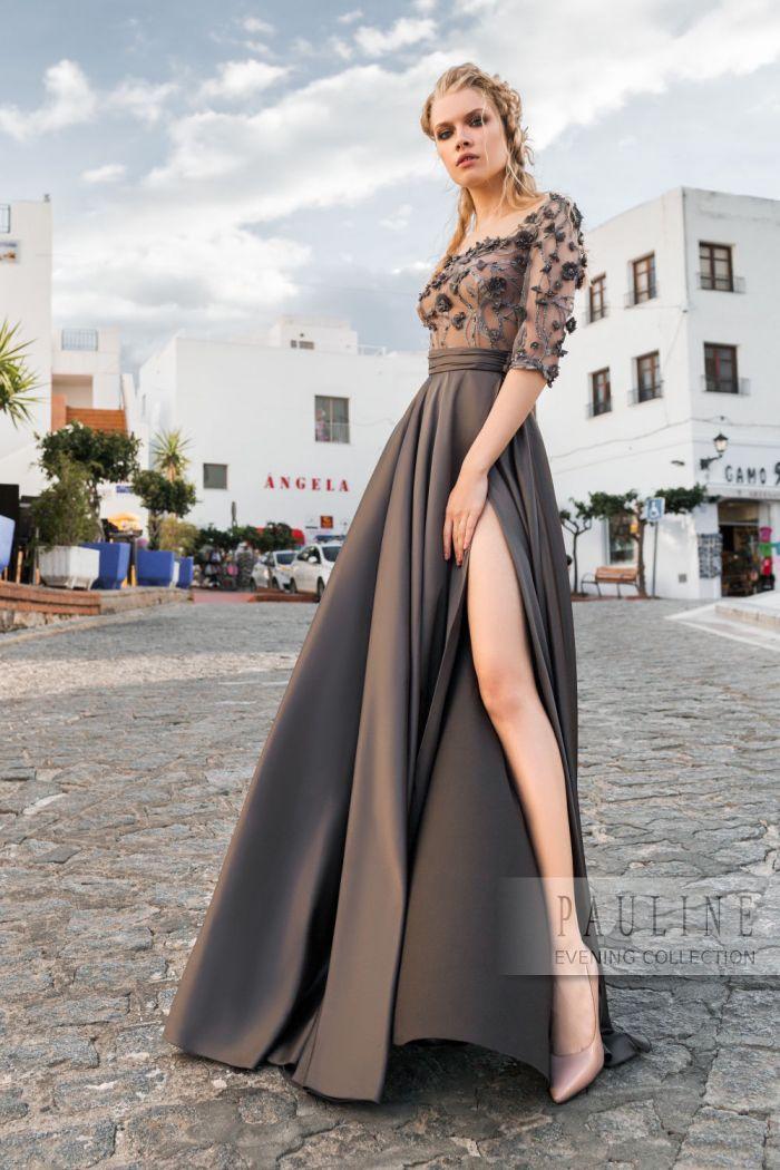 Чарующее своей фактурностью вечернее платье с длинной юбкой ОБРАТНАЯ СТОРОНА ЛУНЫ