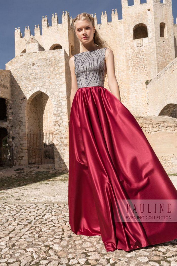 Красивое вечернее платье с открытой спиной и эффектной юбкой ТАИНСТВЕННЫЙ ОСТРОВ