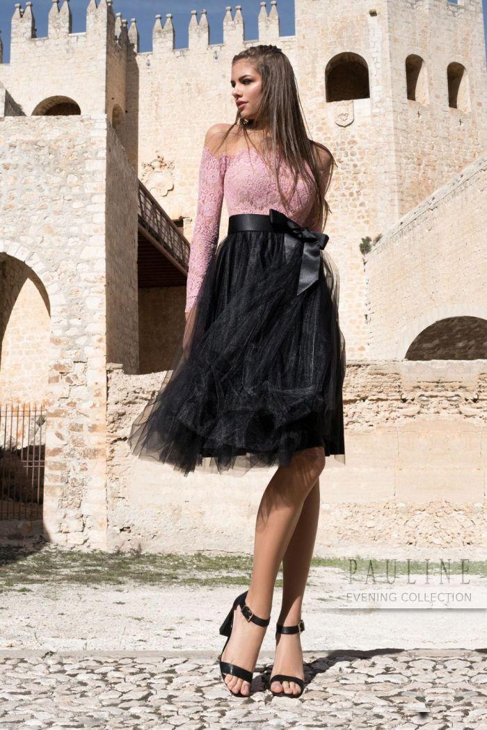 Женственное вечернее платье с дерзкой комбинацией оттенков и фактур ДВОРЦОВЫЙ ПЕРЕВОРОТ