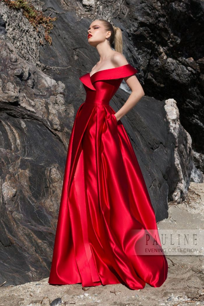 Алое вечернее платье со съемной верхней длинной юбкой АЛЫЕ ПАРУСА
