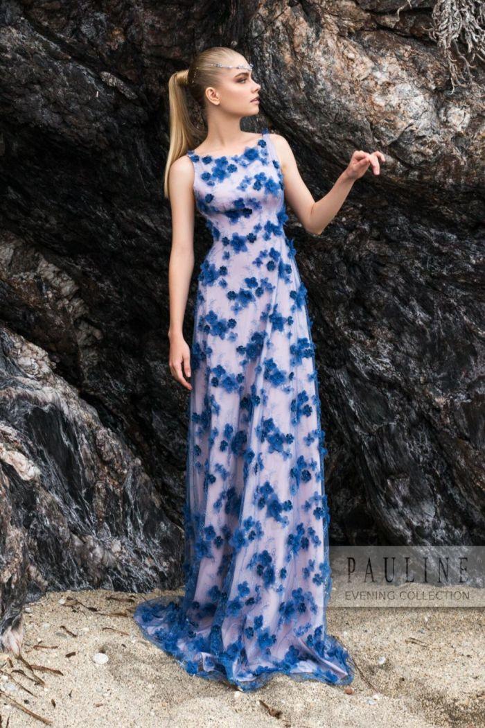 Вечернее платье с эффектно декорированной открытой спиной ЗОВ СИРЕНЫ