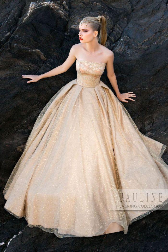 Невероятно красивое вечернее платье с открытыми плечами ЗВЕЗДНАЯ ПЫЛЬ