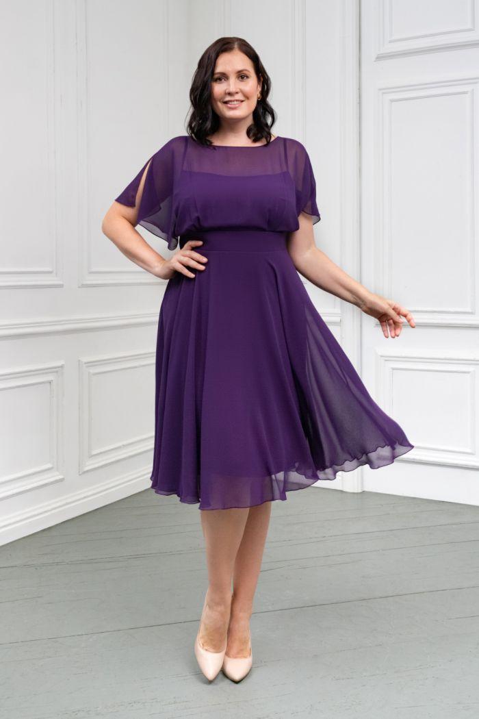 Легкое платье классической длины из невесомой ткани ЛЕТТА Классик