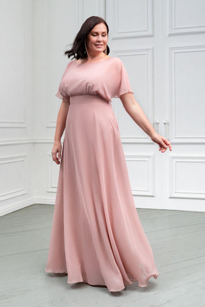 Длинное платье из легкого жоржета с завышенной линией талии ЛЕТТА Макси
