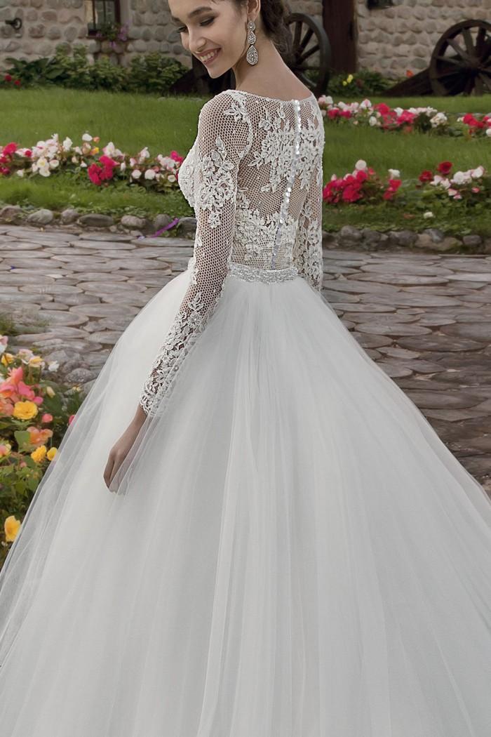 Соблазнительное свадебное платье из кружевного боди и юбки JULLY BRIDE