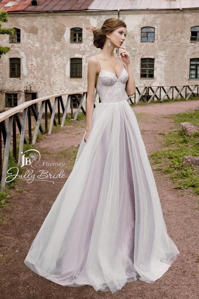 Лиловое свадебное платье в стиле прованс JULLY BRIDE