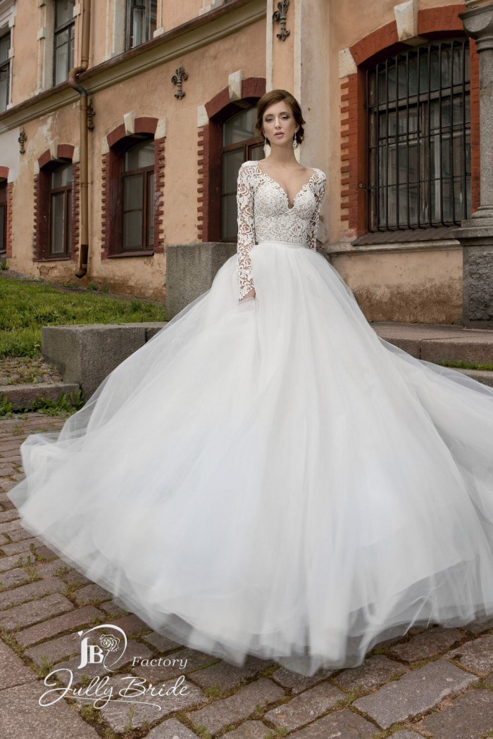 Кружевное свадебное платье трансформер с пышной юбкой JULLY BRIDE