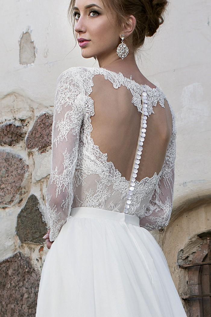 Свадебное платье трансформер А силуэта со шлейфом JULLY BRIDE