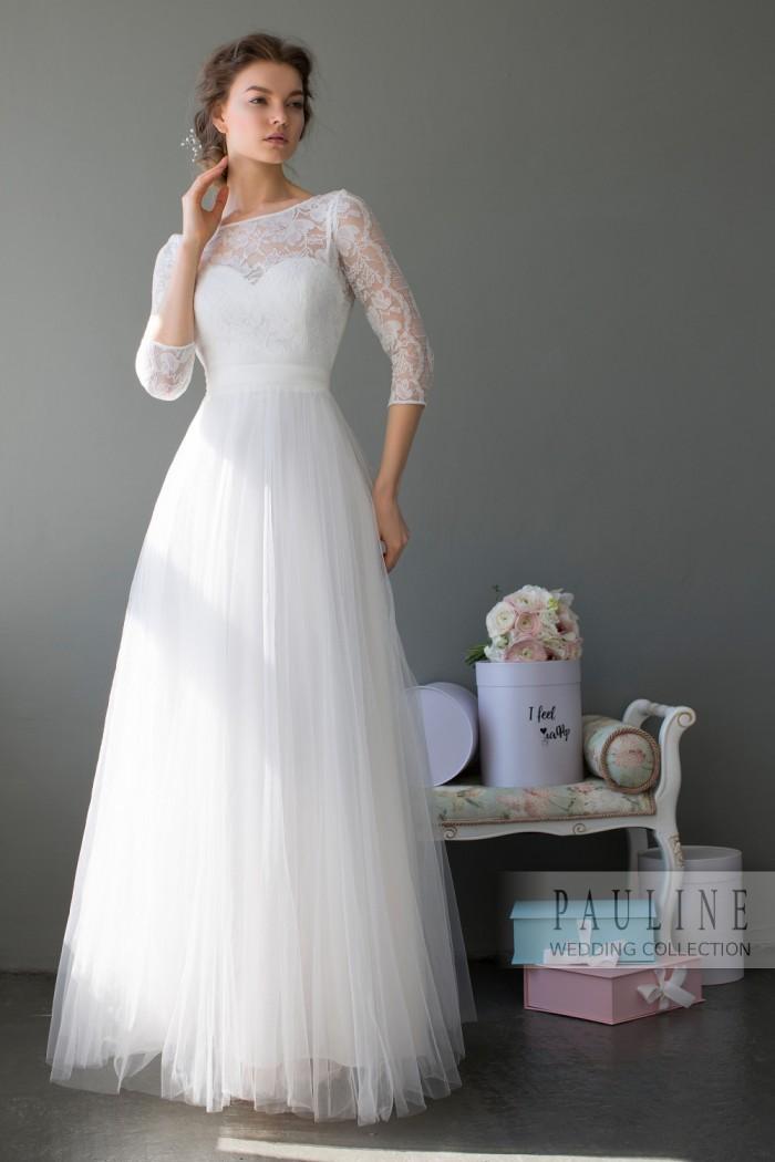 Свадебное платье безупречно изящного силуэта БЕРНЕЙ