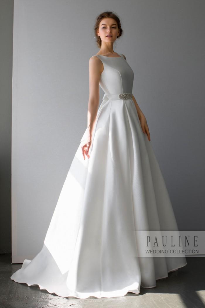 Свадебное платье с безупречным лифом и пышной юбкой со шлейфом МОНГЕОН