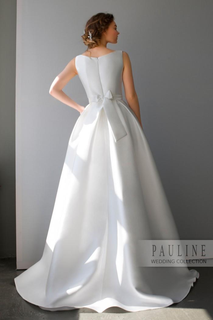 3e2d4aadb80c26e Свадебное платье с безупречным лифом и пышной юбкой со шлейфом. МОНГЕОН