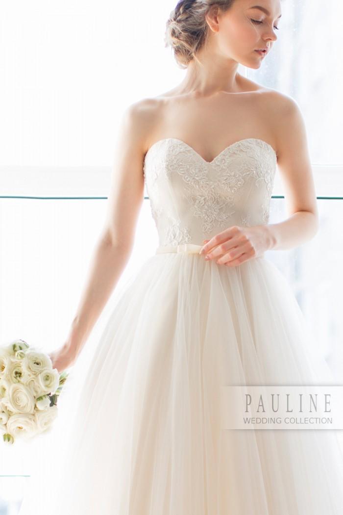 Нежное и романтичное свадебное платье в стиле принцессы ТЕССА