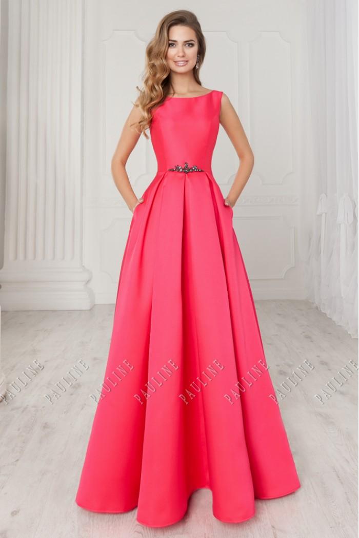 Силуэтное вечернее платье запоминающегося цвета c длинной юбкой МОНГЕОН Эсме