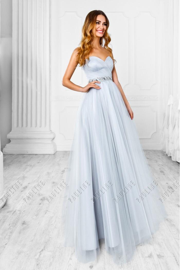 Открытое вечернее платье с кристаллами СМОУК Lux