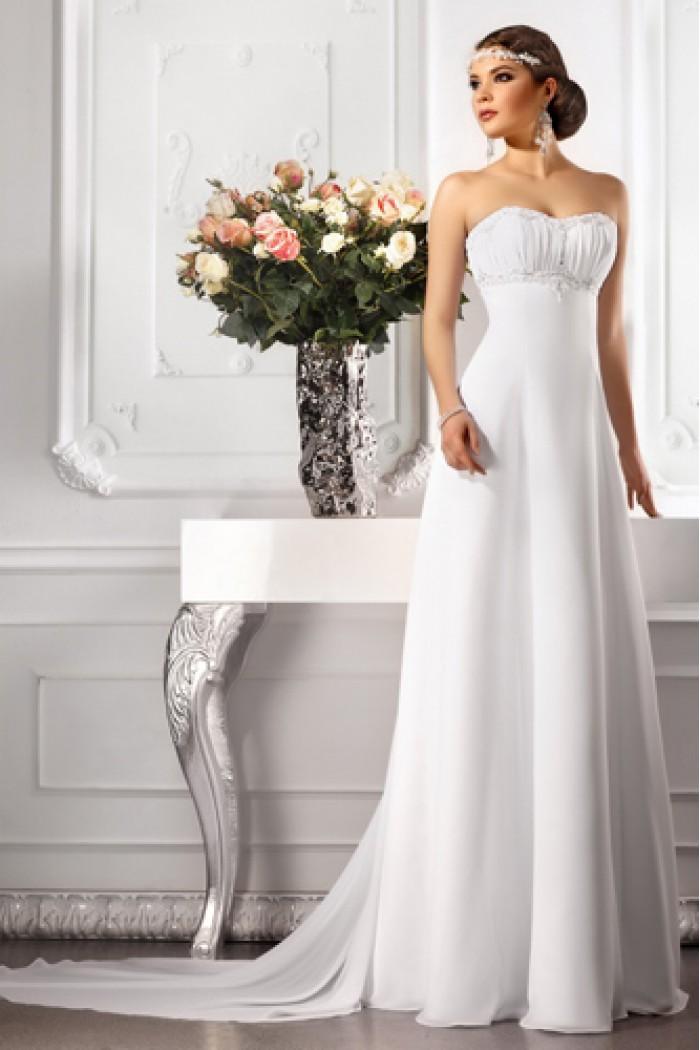 Белое свадебное платье в греческом стиле От АМУРА