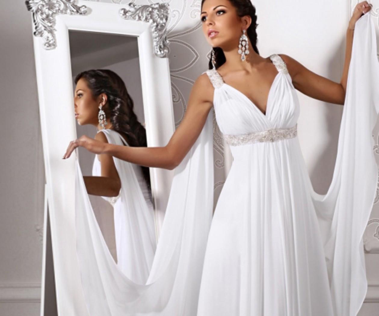 Шифоновое свадебное платье в стиле Ампир ЦАРИЦА Греции