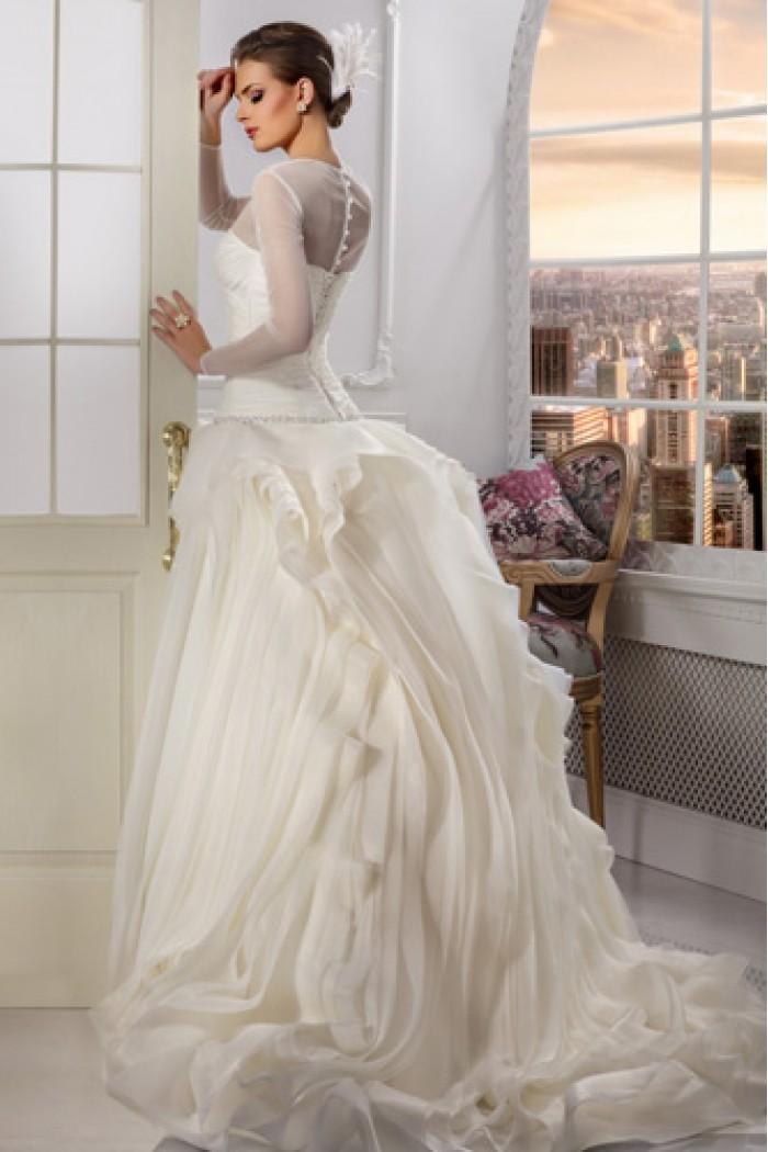 Оригинальное свадебное платье с пышной юбкой СЛОВО КОРОЛЕВЫ