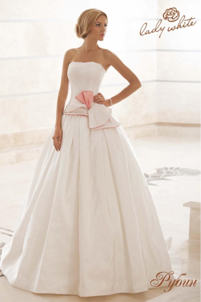 Свадебное платье с роскошным корсетом РУБИН