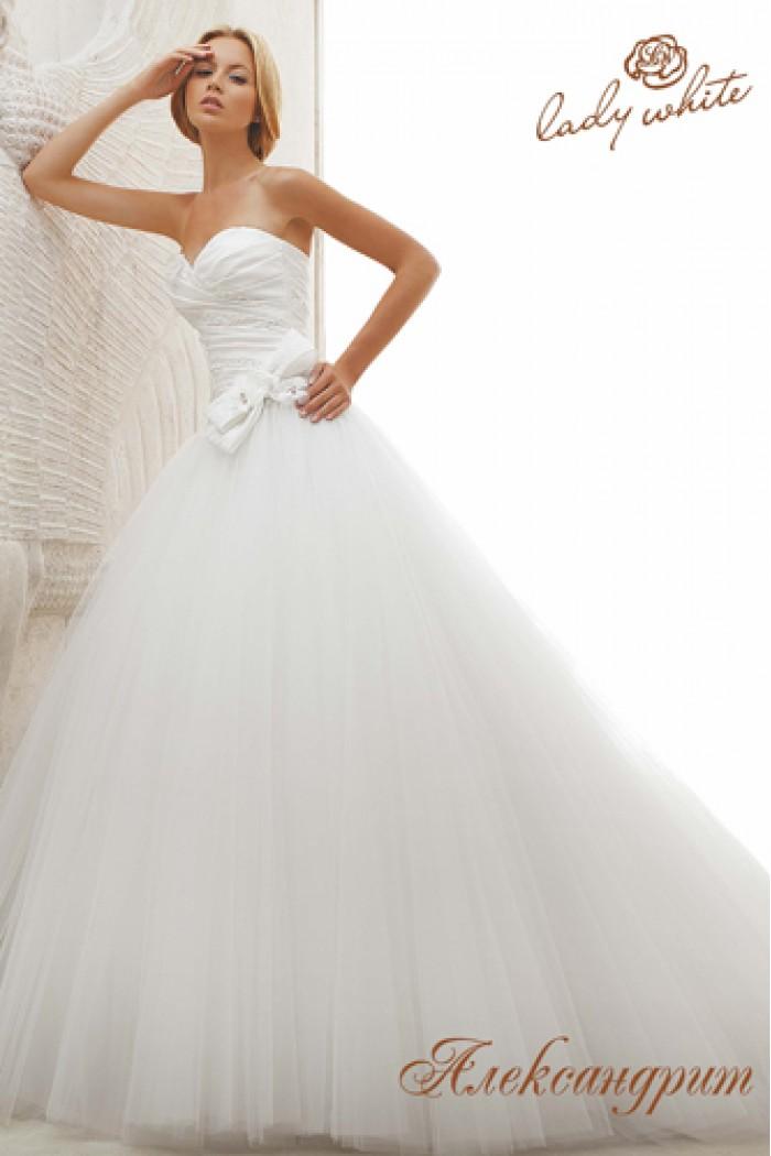 Пышное свадебное платье с многослойной фатиновой юбкой АЛЕКСАНДРИТ