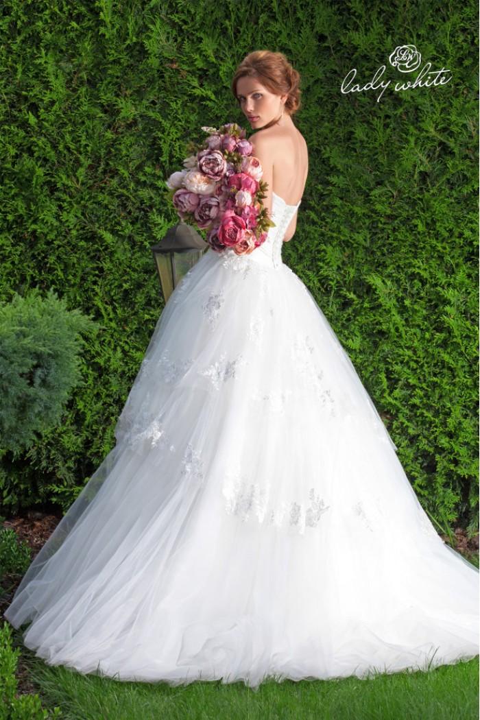 Свадебное платье А-силуэта с корсетом сердечком АЛЕВТИНА