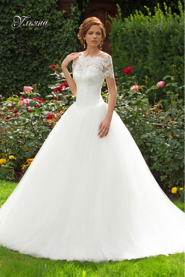 Пышное свадебное платье с болеро УЛЬЯНА