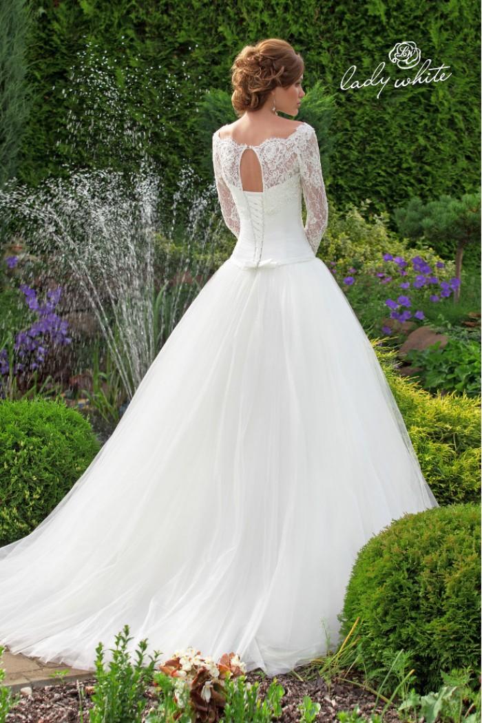 Свадебное платье с заниженным корсетом ВАРВАРА