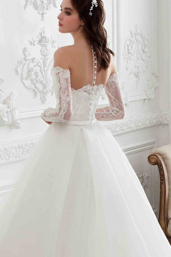 deb5be604f8cee8 Пышное свадебное платье с длинным рукавом и шлейфом в Хабаровске