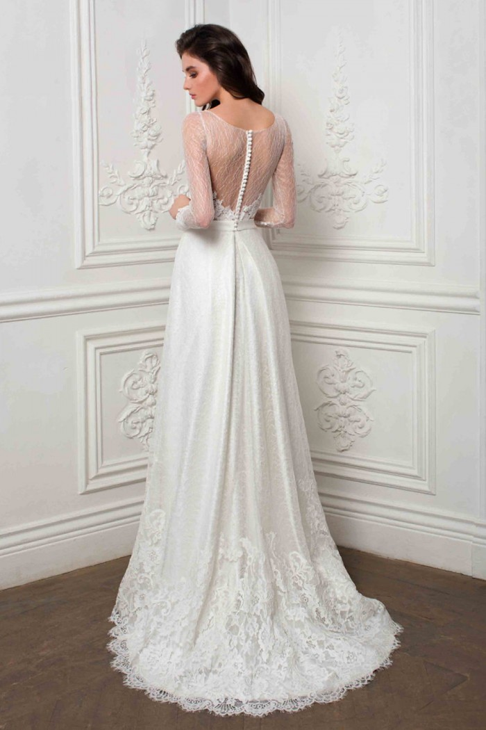 Элегантное свадебное платье с эффектом обнаженной спины МИРЕЛЛА